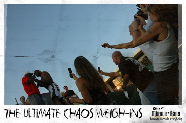 The Ultimate Chaos Weigh-Ins…only at MiddleEasy.com