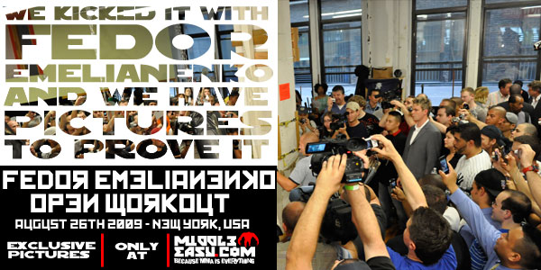 Exclusive Pictures of Fedor's NY Open Workout