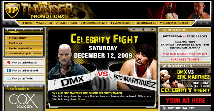 DMX is fighting December 12th…yes, MMA