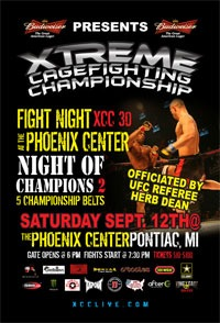 Xtreme Cagefighting Championships TONIGHT for FREE! 7:30pm EST!