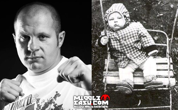 Before you see Fedor tonight on Showtime, check out this picture of him as a baby