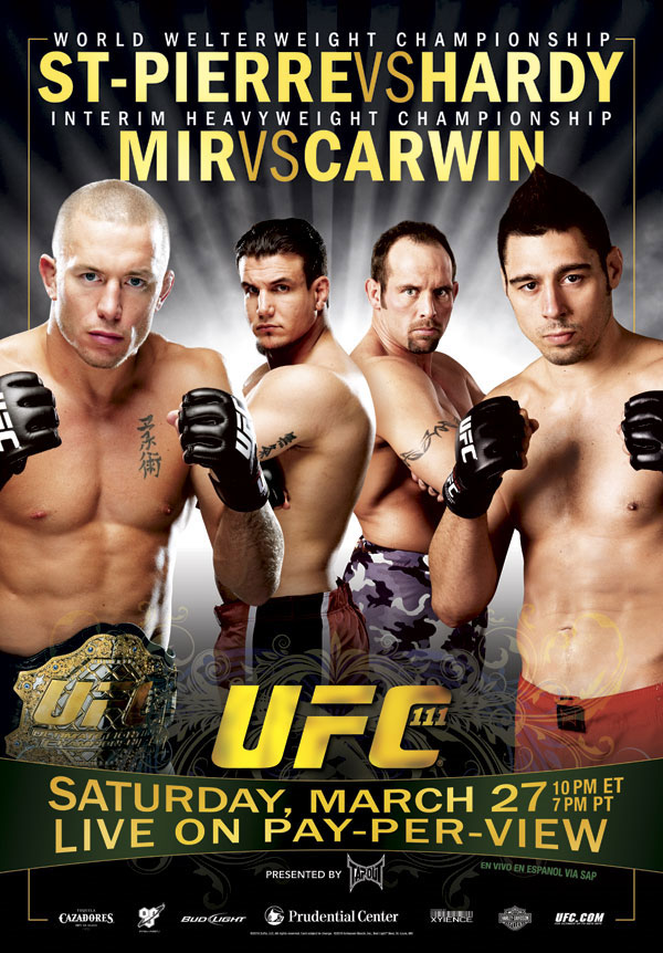 UFC removes Dan Hardy's tattoos in the new UFC 111 poster