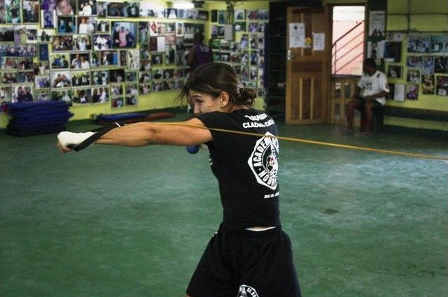 Check out Kyra Gracie Training for her MMA Debut in 2011