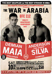 With a 30% chance of rain on UFC 112, Dana says there is no 'Plan B'
