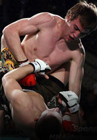 If Pat Audinwood is fighting at UFC 119, who's fighting in M-1 Global?
