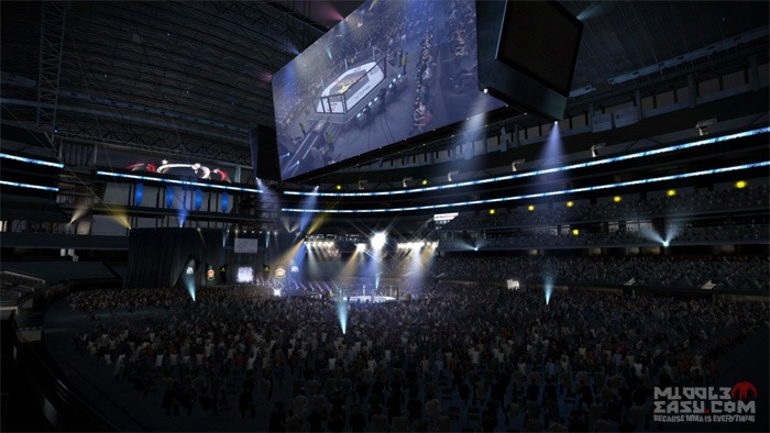 Check out the FIRST pictures of Cowboys Stadium in EA Sports MMA