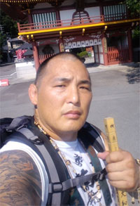Enson Inoue has embarked on a 1,200 kilometer spiritual journey…by foot
