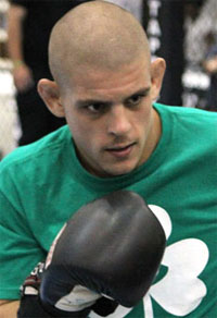 Joe Lauzon grapples with a YouTube commentator, with predictable results