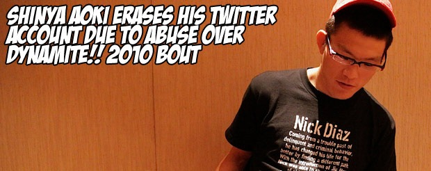Shinya Aoki erases his Twitter account due to abuse over Dynamite!! 2010 bout