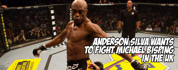 Anderson Silva wants to fight Michael Bisping in the UK