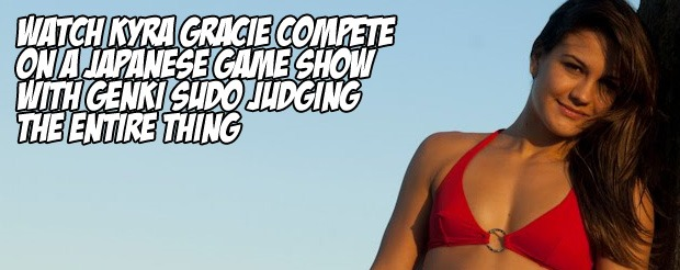 Watch Kyra Gracie compete on a Japanese game show with Genki Sudo judging the entire thing