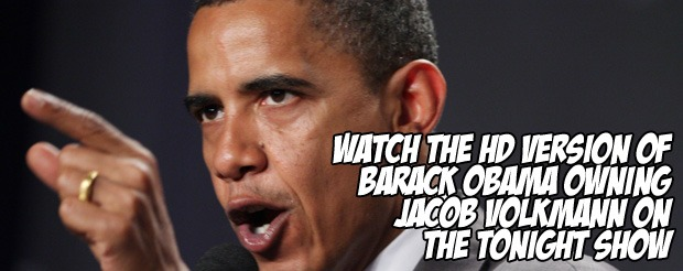 Watch the HD version of Barack Obama owning Jacob Volkmann on The Tonight Show