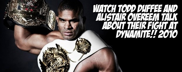 Watch Todd Duffee and Alistair Overeem talk about their fight at Dynamite!! 2010