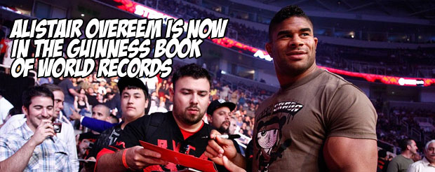 Alistair Overeem is now in the Guinness Book of World Records