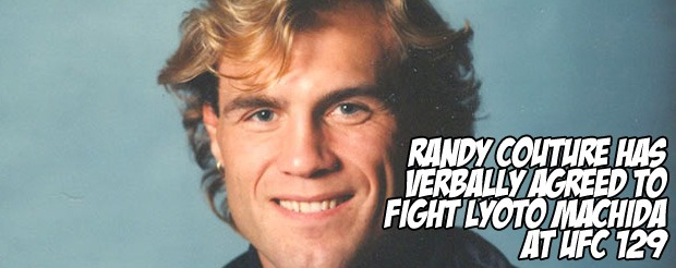 Randy Couture has verbally agreed to fight Lyoto Machida at UFC 129