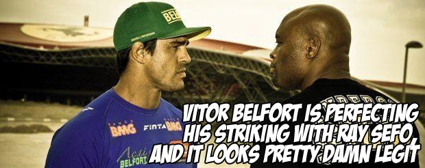 Vitor Belfort is perfecting his striking with Ray Sefo, and it looks pretty damn legit
