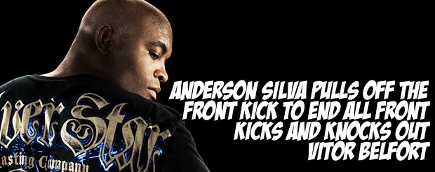Anderson Silva pulls off the front kick to end all front kicks and knocks out Vitor Belfort
