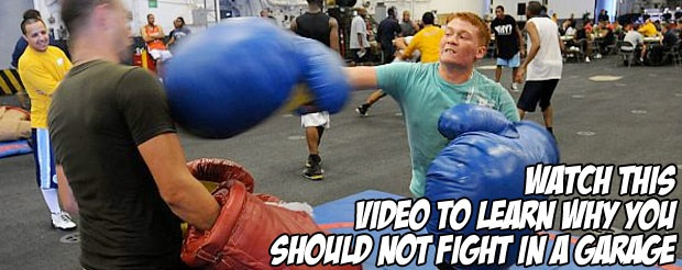 Watch this video to learn why you should not fight in a garage