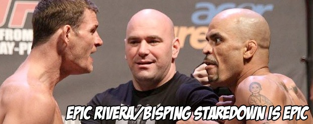 Epic Rivera/Bisping staredown is epic