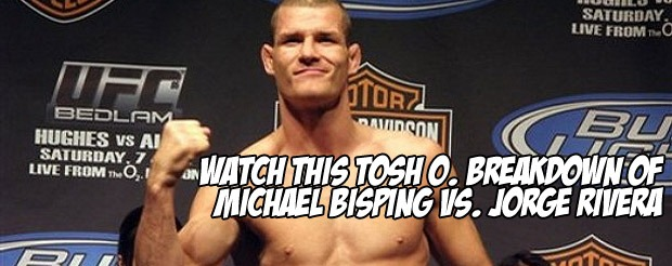 Watch this Tosh O. breakdown of Bisping vs. Rivera