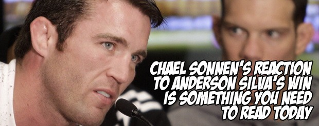 Chael Sonnen's reaction to Anderson Silva's win is something you NEED to read today