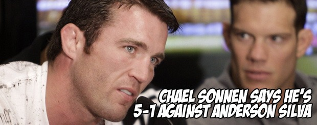 Chael Sonnen says he's 5-1 against Anderson Silva