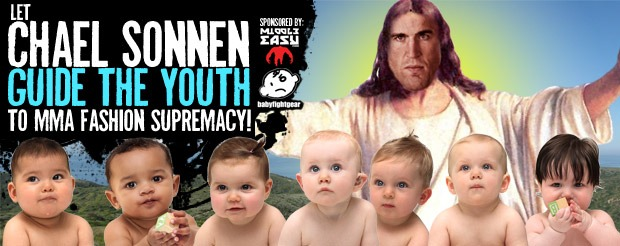 Create the first design for Chael Sonnen's signature line of baby onesies in our BabyFightGear contest!