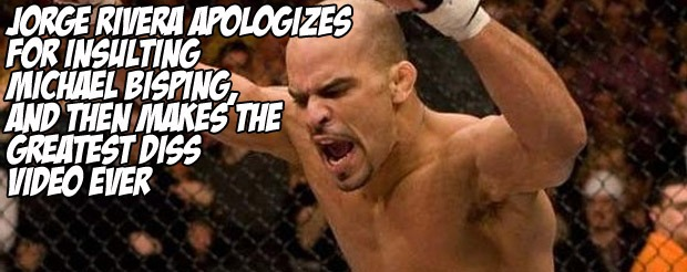 Jorge Rivera apologizes for insulting Michael Bisping, and then makes the greatest diss video ever