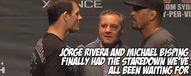 Jorge Rivera and Michael Bisping finally had the staredown we've all been waiting for