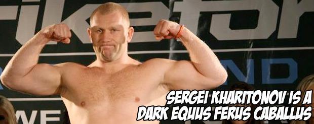 Sergei Kharitonov is a dark Equus ferus caballus