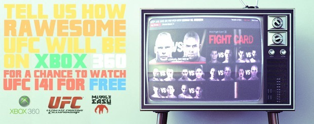 3 people will be able to watch UFC 141 for FREE, compliments of Xbox 360 and MiddleEasy