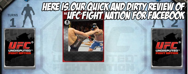 Here is our quick and dirty review of UFC: Fight Nation for Facebook