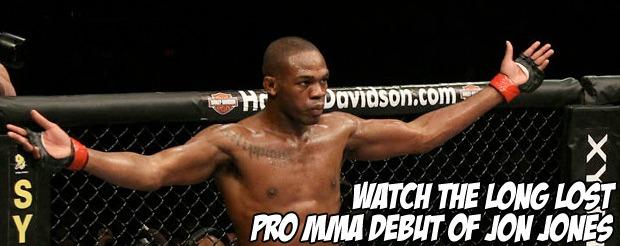Watch the long lost pro MMA debut of Jon Jones