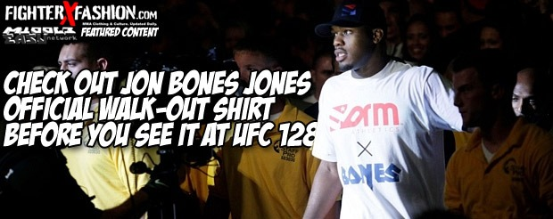 Check out Jon Bones Jones official walk-out shirt before you see it at UFC 128