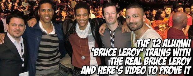TUF 12 alumni 'Bruce Leroy' trains with the real Bruce Leroy and here's video to prove it