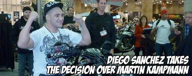 Diego Sanchez takes the decision over Martin Kampmann