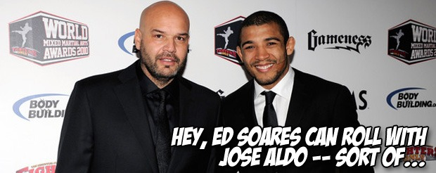 Hey, Ed Soares can roll with Jose Aldo — sort of…