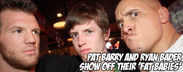 Pat Barry and Ryan Bader show off their 'fat babies'
