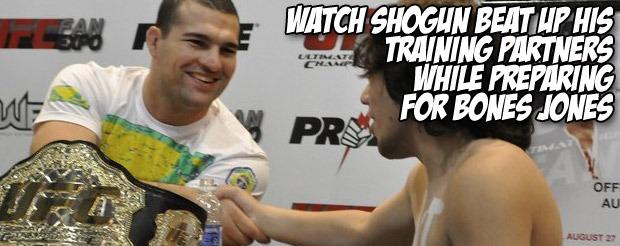 Watch Shogun Rua beat up his training partners while preparing for Bones Jones