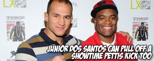 Junior Dos Santos can pull off a Showtime Pettis kick too