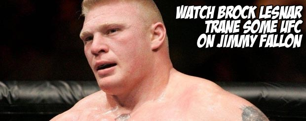 Watch Brock Lesnar trane some UFC with Jimmy Fallon