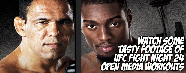Watch this tasty footage of UFC Fight Night 24 open media workouts