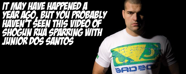It may have happened a year ago, but you probably haven't seen this video of Shogun Rua sparring with Junior Dos Santos