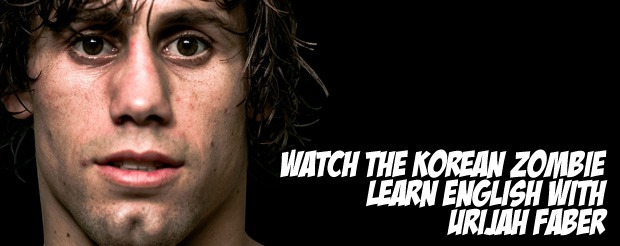 Watch The Korean Zombie learn English with Urijah Faber