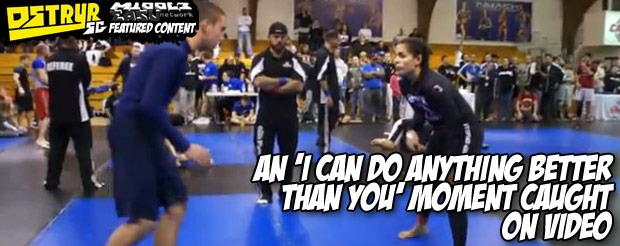 An 'I can do anything better than you' moment caught on video