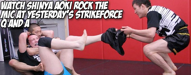 Watch Shinya Aoki rock the mic at yesterday's Strkeforce Q and A