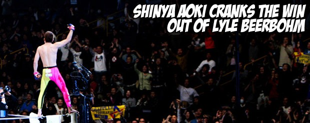 Shinya Aoki cranks the win out of Lyle Beerbohm