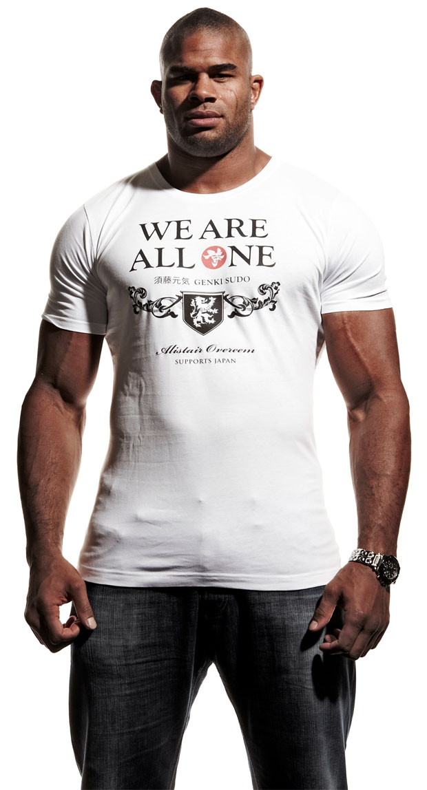 Alistair Overeem Has A New Shirt That Supports Japan That He