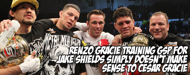 Renzo Gracie training GSP for Jake Shields simply doesn't