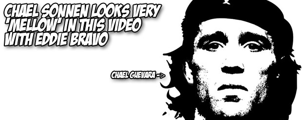 Chael Sonnen looks very 'mellow' in this video with Eddie Bravo